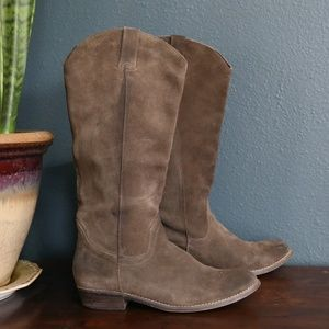 Kelsi Dagger Brown Leather Suede Frisco Boots
